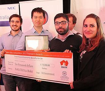 One of the winning Premier Award winners, team BizKit.TECH